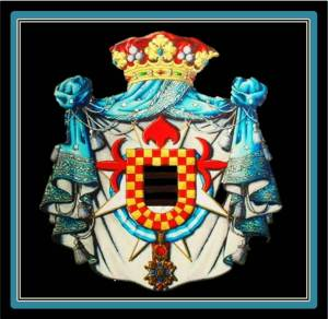 Coat of Arms of the Marchis of La Floresta (photo from heraldicahispanica. blogspot.com.es)