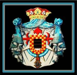 Coat of Arms of the Marchis of La Floresta (photo from heraldicahispanica. blogspot.com.es)