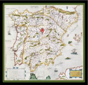 Spain as seen in the seventeenth century (photo from historiasinhistorietas.blogspot.com)