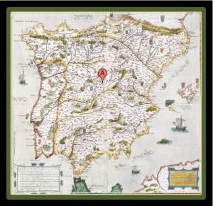Spain as seen in the seventeenth century (photo from historiasinhistorietas.blogspot.com)