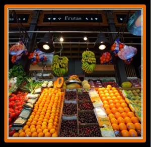 A great display of culinary fruit waiting to be enjoyed at Mercado de San Miguel (photo from natui.es)