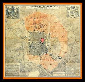 General Plan for the Enlargement of Madrid in 1857. New neighborhoods like Salamanca are created from scratch (photo from islasterritorio.blogspot.com.es)