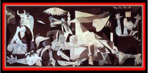 Certainly the most famous masterpiece in the museum is Picasso's painting Guernica (photo from spainisculture.com)