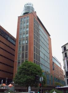 Fnac building at Plaza del Callao (square) in Madrid (Spain).