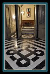 In the mid 19th century patterns were very popular to decorate the floors with a romantic taste.