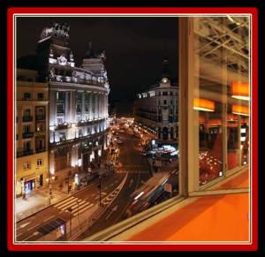 These are the views you get from the Petit Palace Alcala (photo from hotelpetitpalacealcalatorre.com)