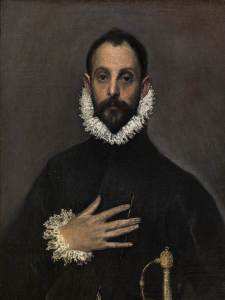 The nobleman with his hand on his chest, by El Greco (1579)